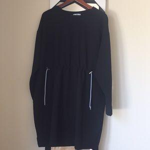Zara Black Sweatshirt dress